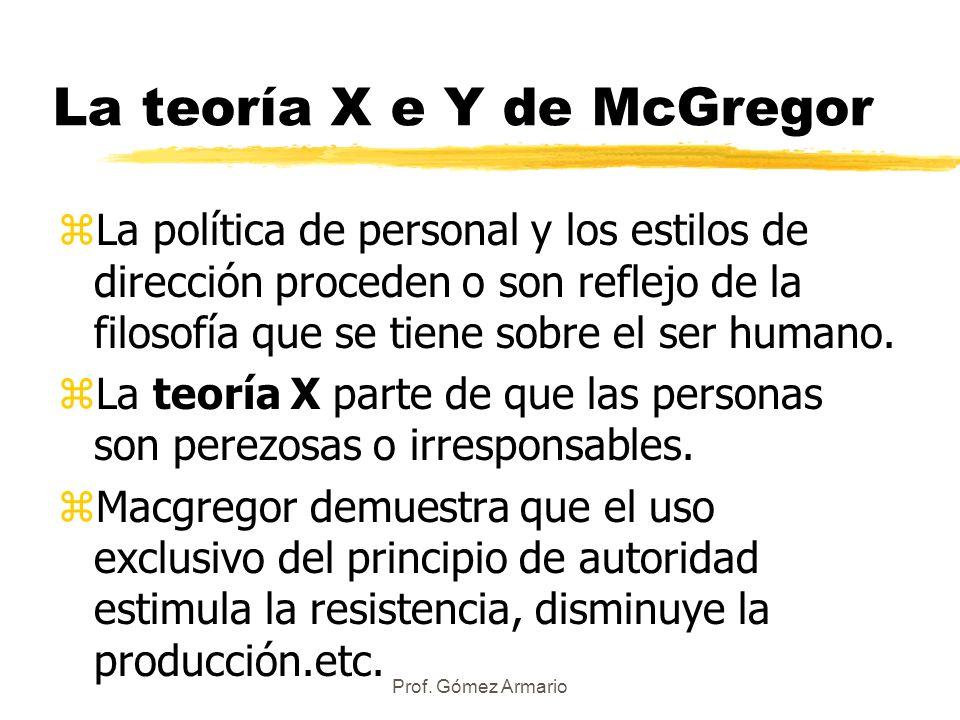La teoría X e Y de McGregor