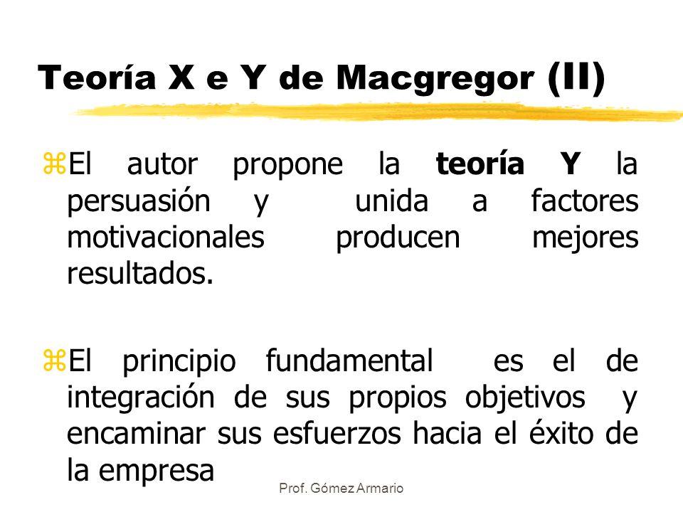 Teoría X e Y de Macgregor (II)