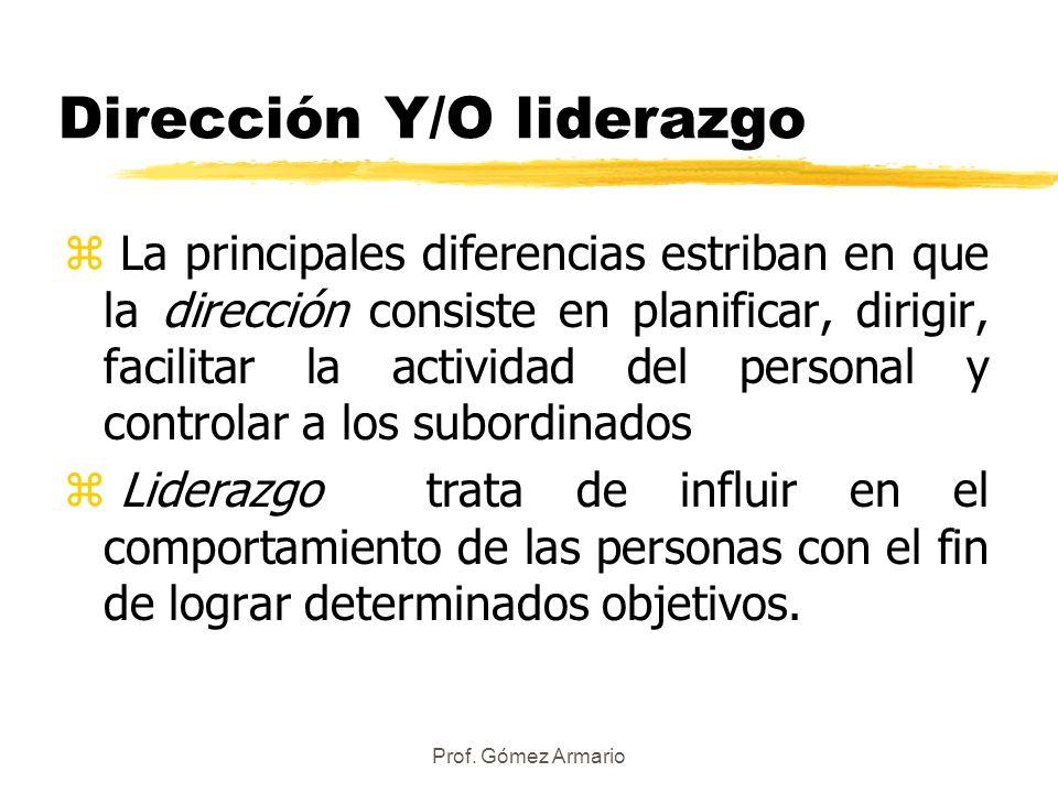 Dirección Y/O liderazgo