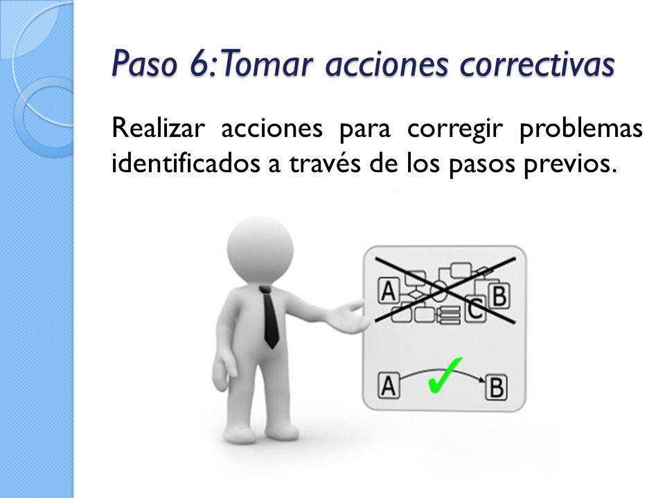 Paso 6: Tomar acciones correctivas