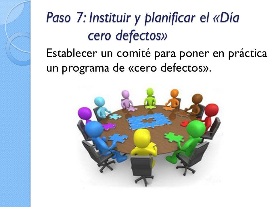 Paso 7: Instituir y planificar el «Día cero defectos»