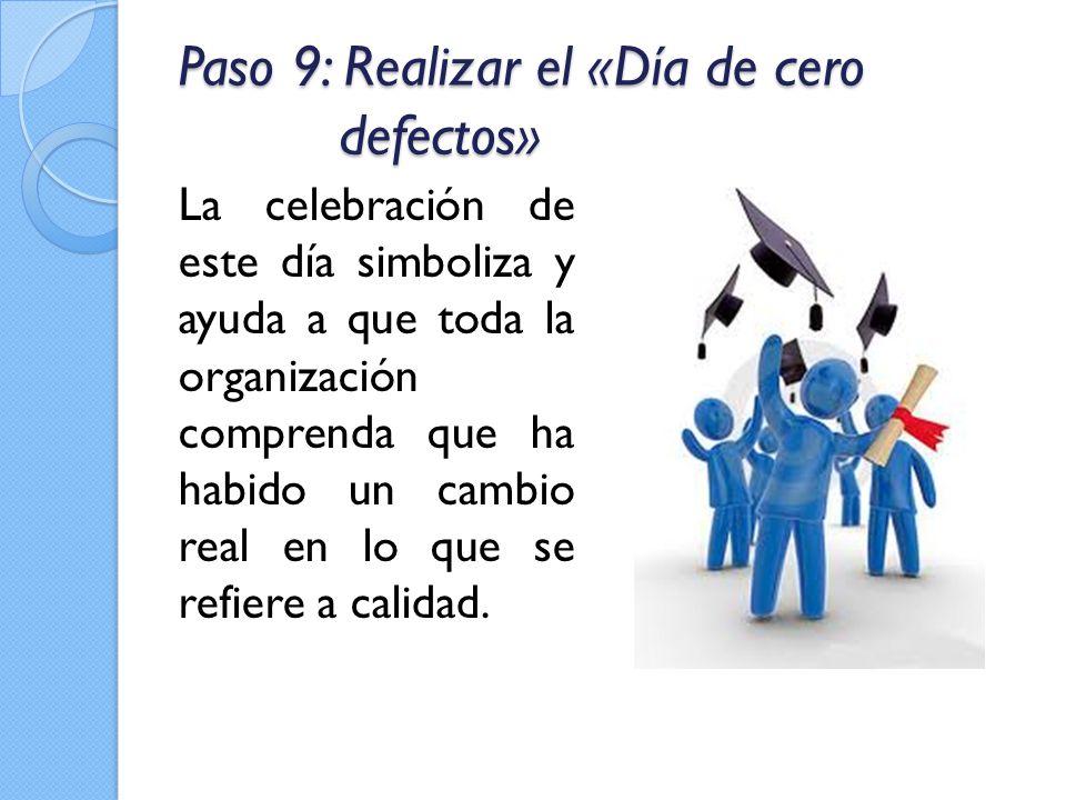 Paso 9: Realizar el «Día de cero defectos»
