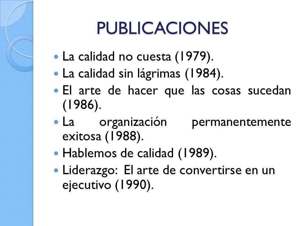 PUBLICACIONES La calidad no cuesta (1979).