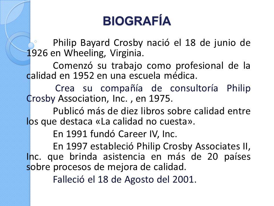BIOGRAFÍA Philip Bayard Crosby nació el 18 de junio de 1926 en Wheeling, Virginia.