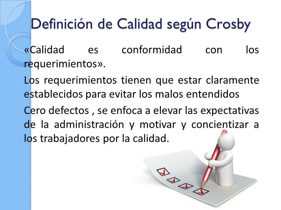 Definición de Calidad según Crosby