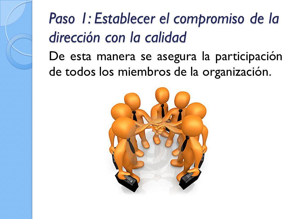 Paso 1: Establecer el compromiso de la dirección con la calidad