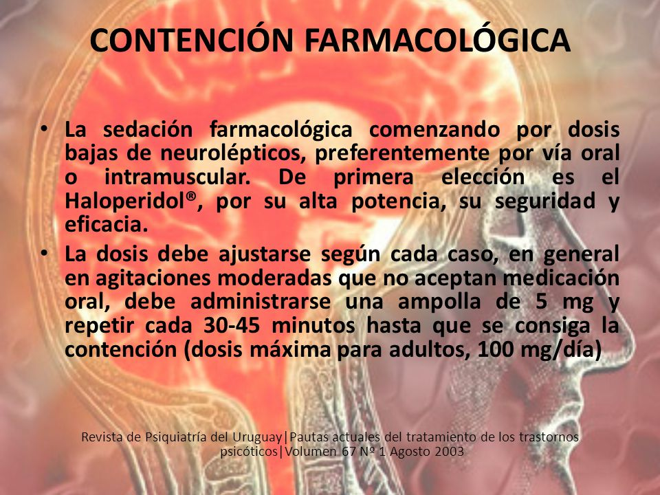 CONTENCIÓN FARMACOLÓGICA