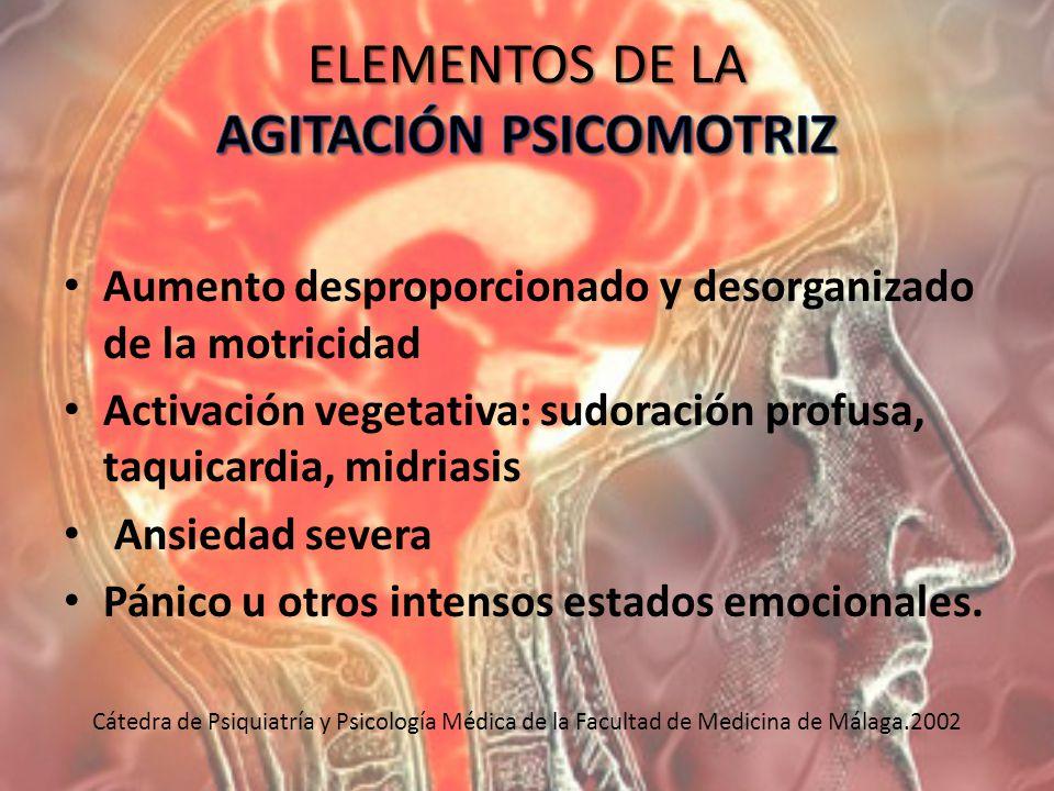 ELEMENTOS DE LA AGITACIÓN PSICOMOTRIZ