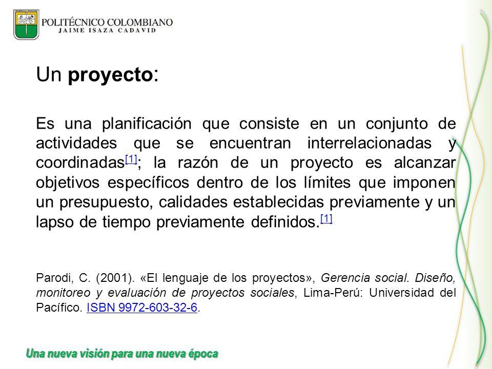 Un proyecto: