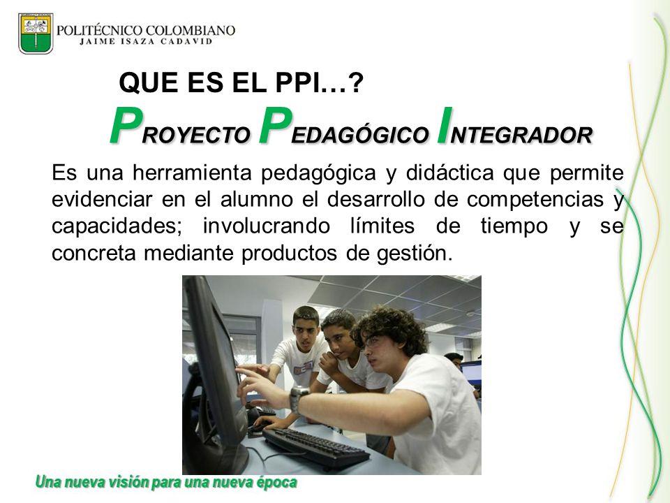 PROYECTO PEDAGÓGICO INTEGRADOR
