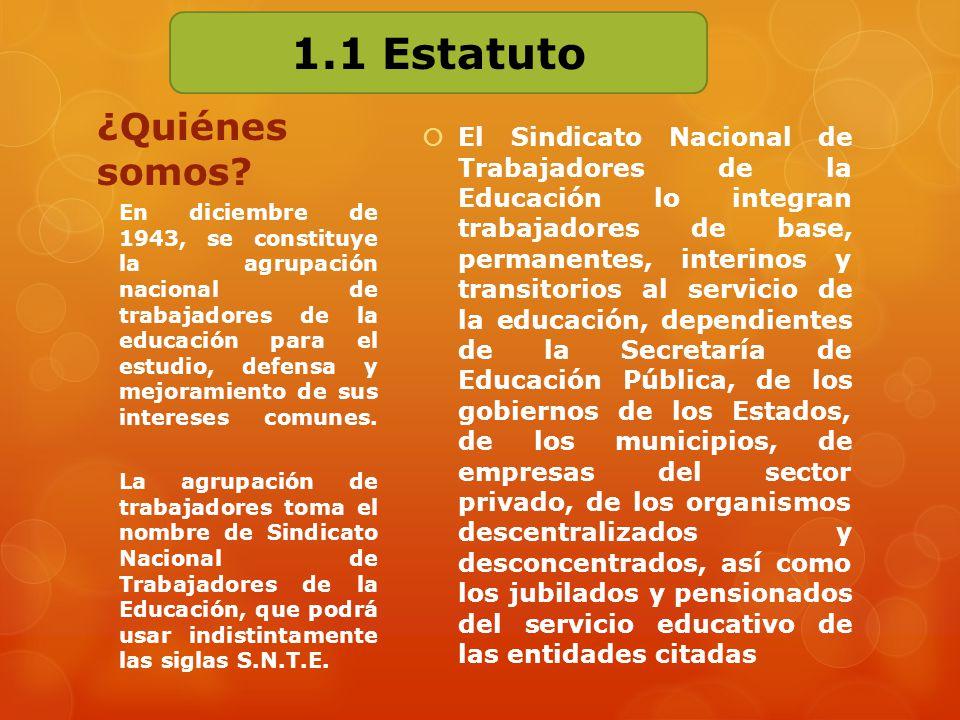 1.1 Estatuto ¿Quiénes somos