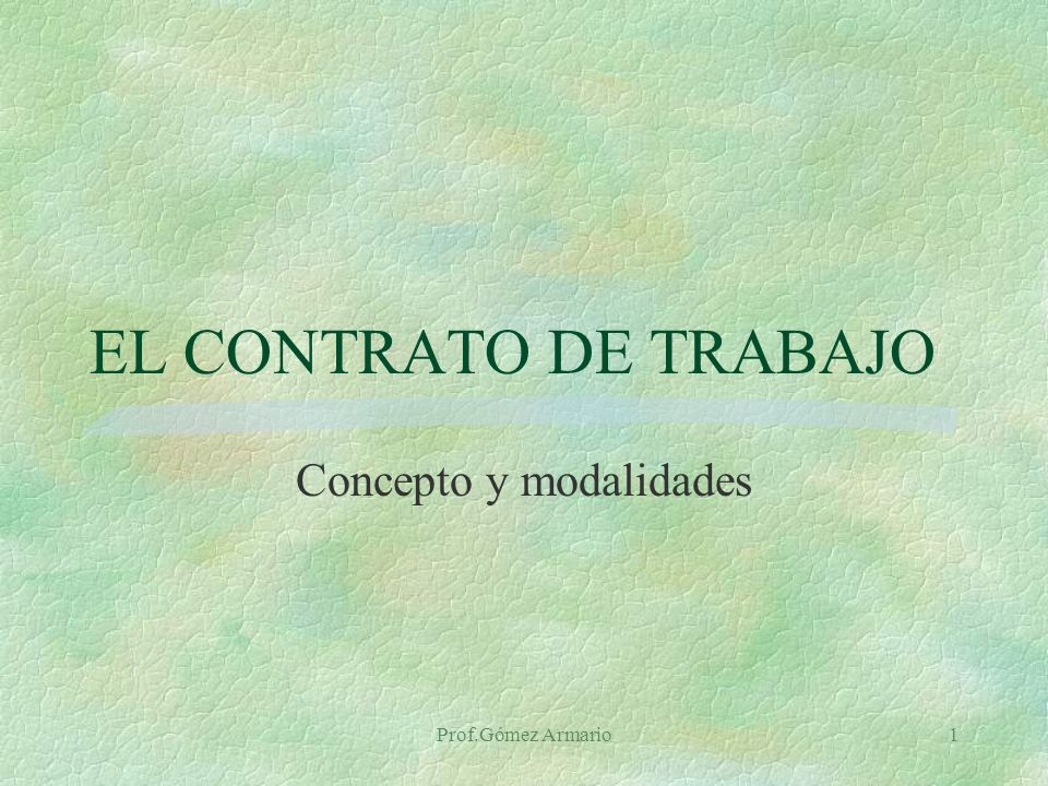 Concepto y modalidades