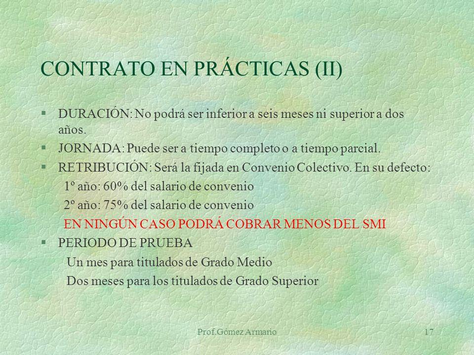 CONTRATO EN PRÁCTICAS (II)