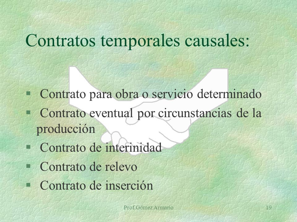 Contratos temporales causales: