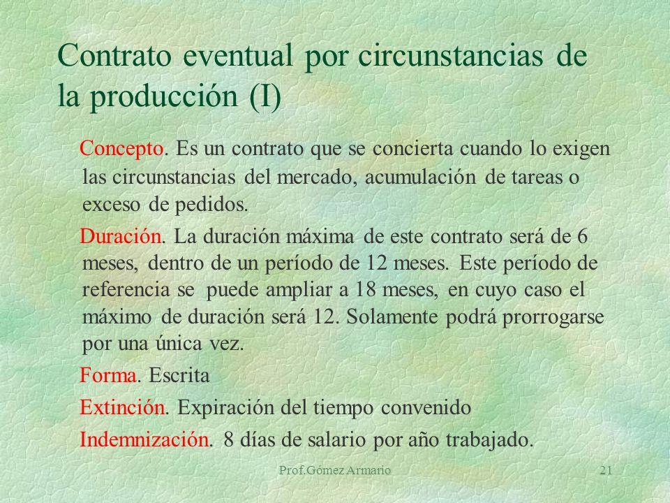 Contrato eventual por circunstancias de la producción (I)