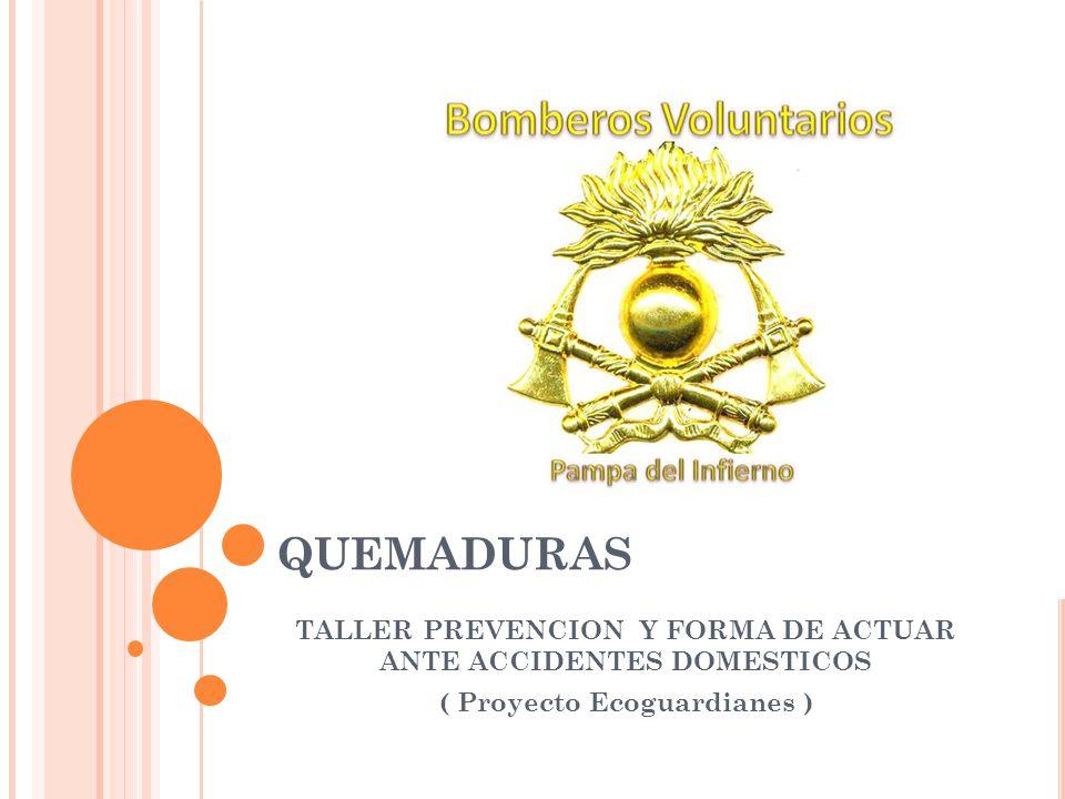 QUEMADURAS TALLER PREVENCION Y FORMA DE ACTUAR ANTE ACCIDENTES DOMESTICOS.
