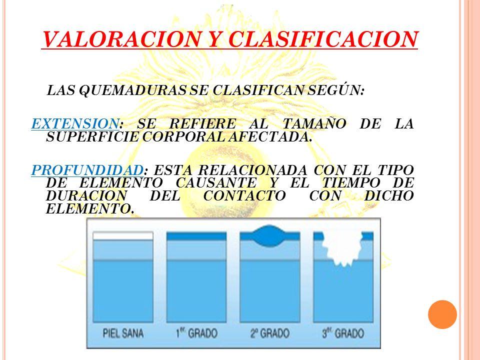 VALORACION Y CLASIFICACION