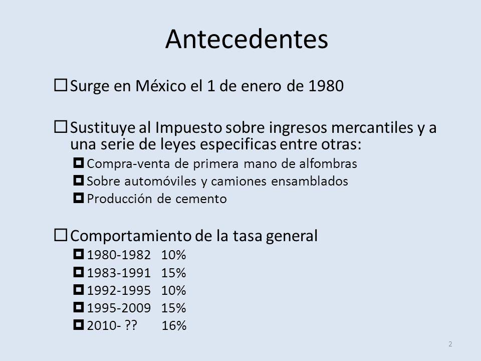 Antecedentes Surge en México el 1 de enero de 1980