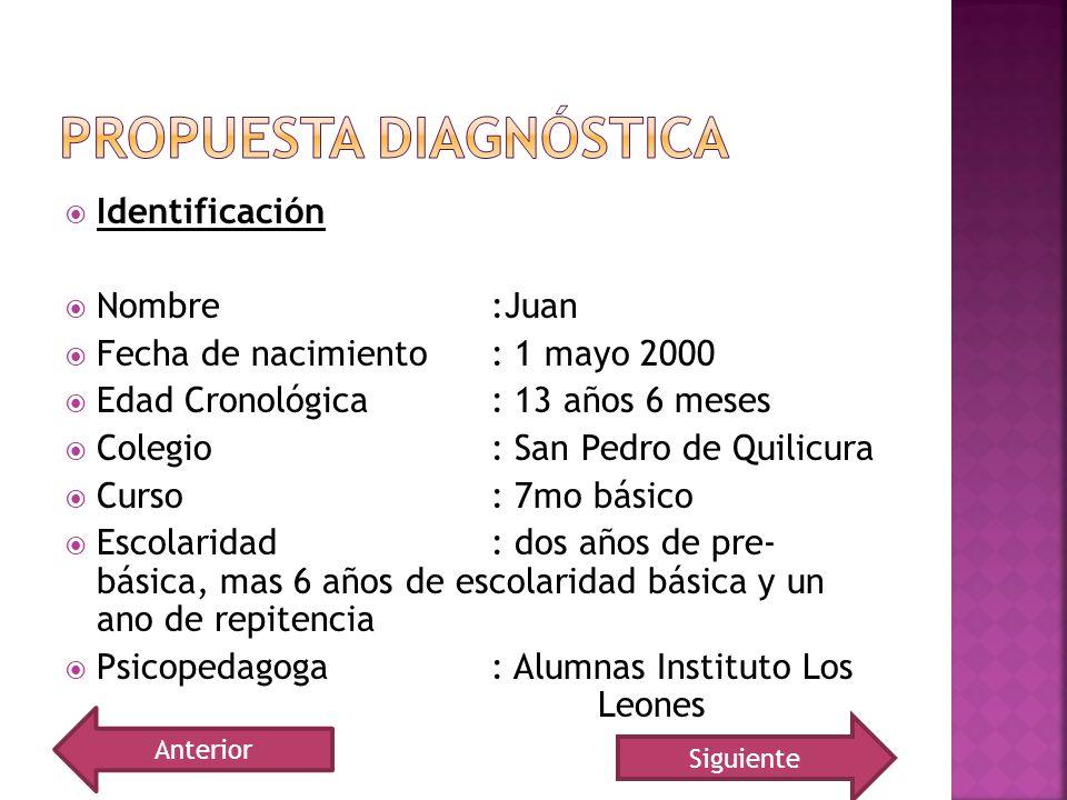 Propuesta diagnóstica