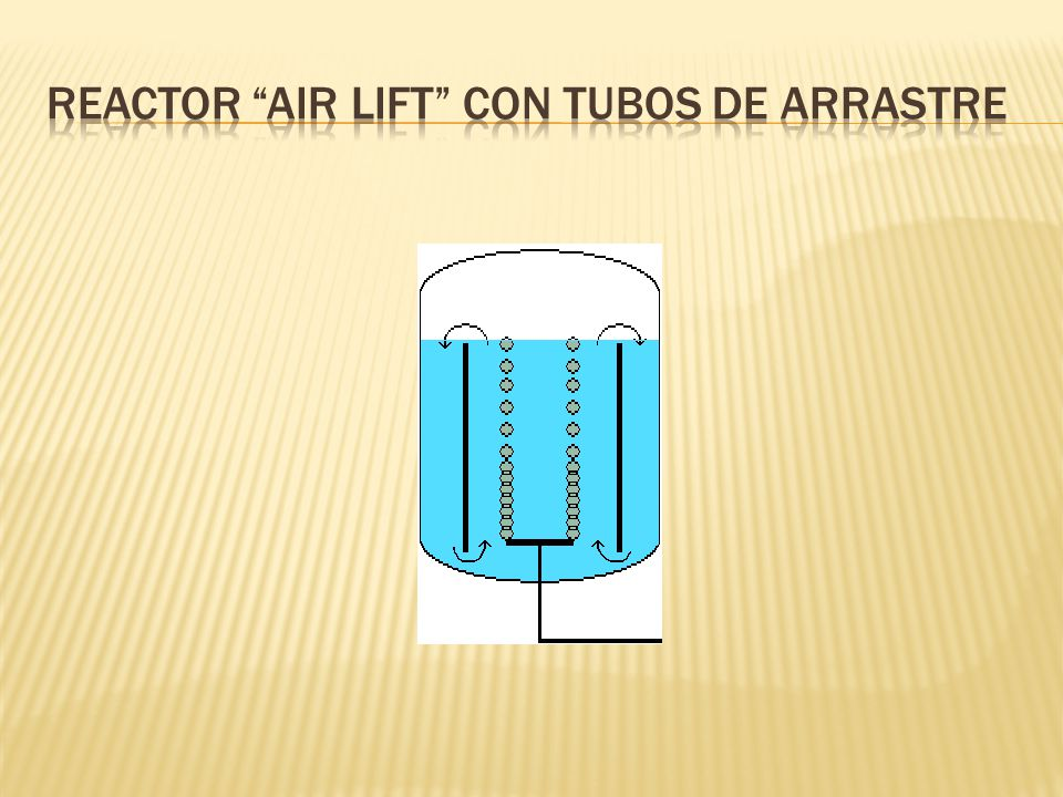 Reactor Air Lift con tubos de arrastre