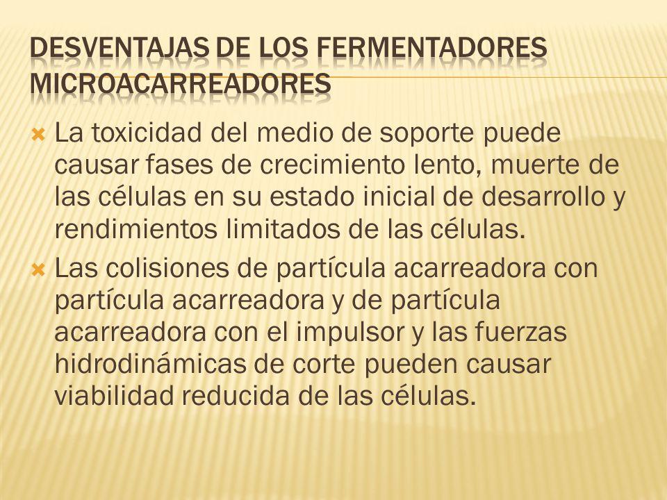 Desventajas de los fermentadores microacarreadores