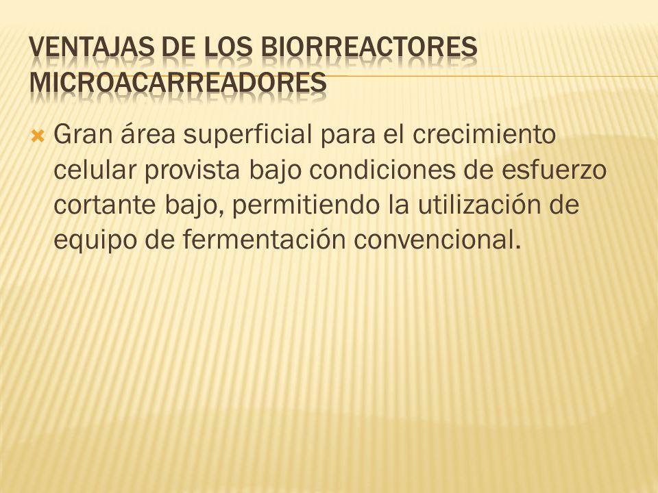 Ventajas de los biorreactores microacarreadores