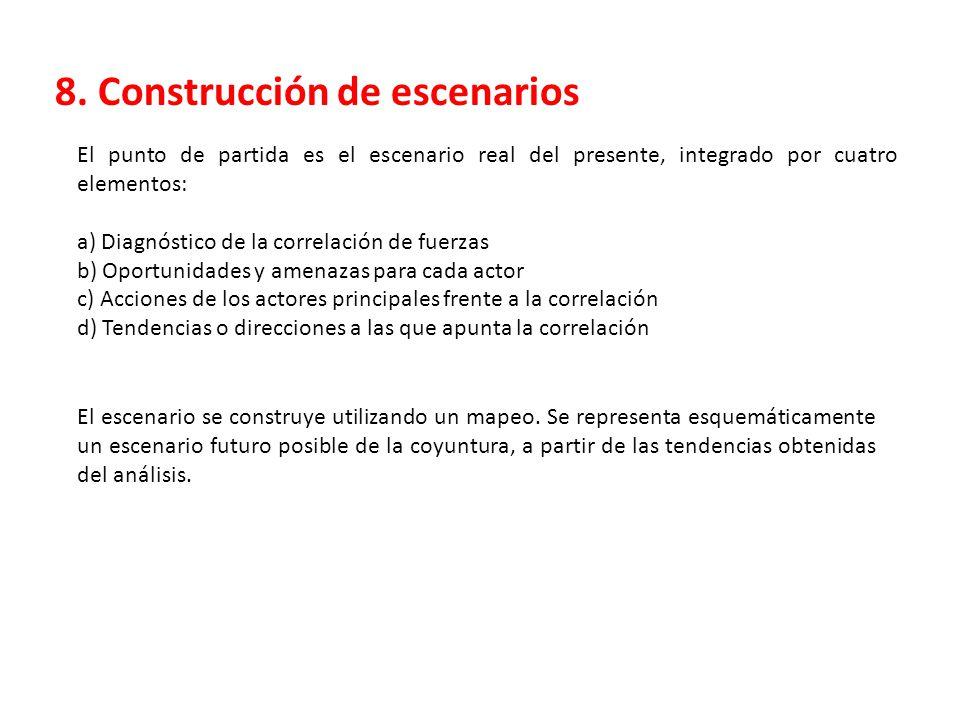 8. Construcción de escenarios