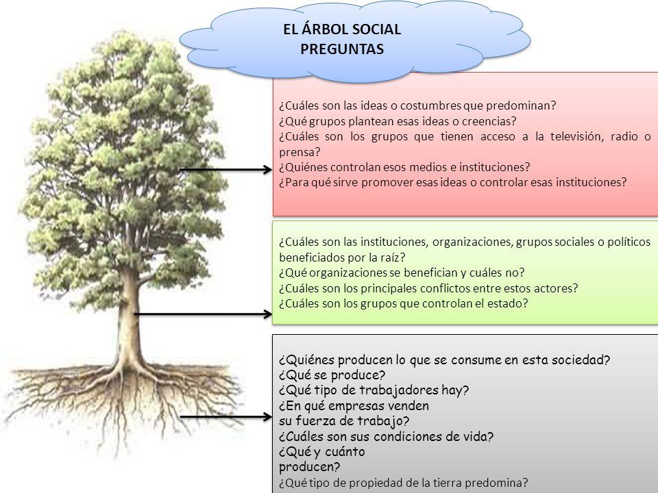 EL ÁRBOL SOCIAL PREGUNTAS