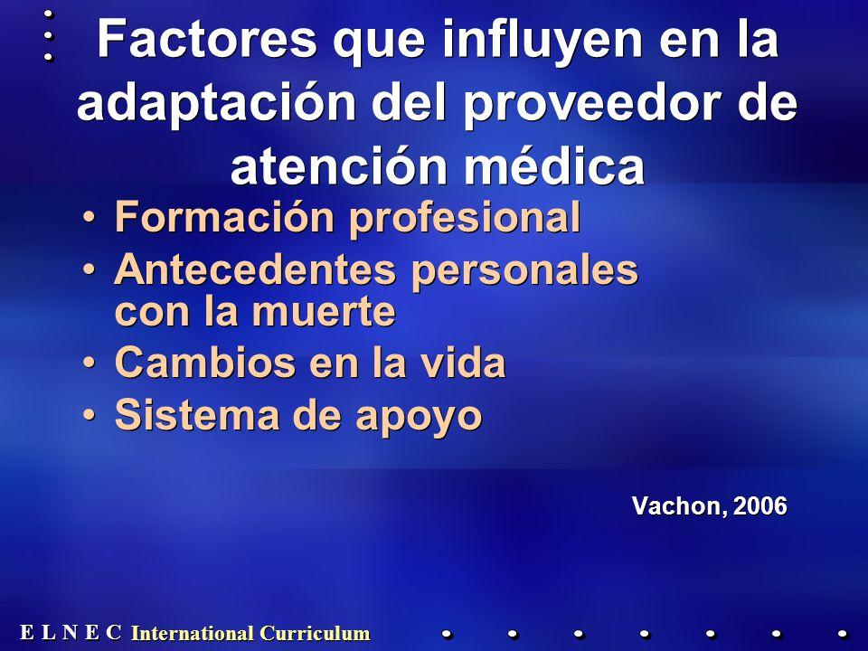 Factores que influyen en la adaptación del proveedor de atención médica