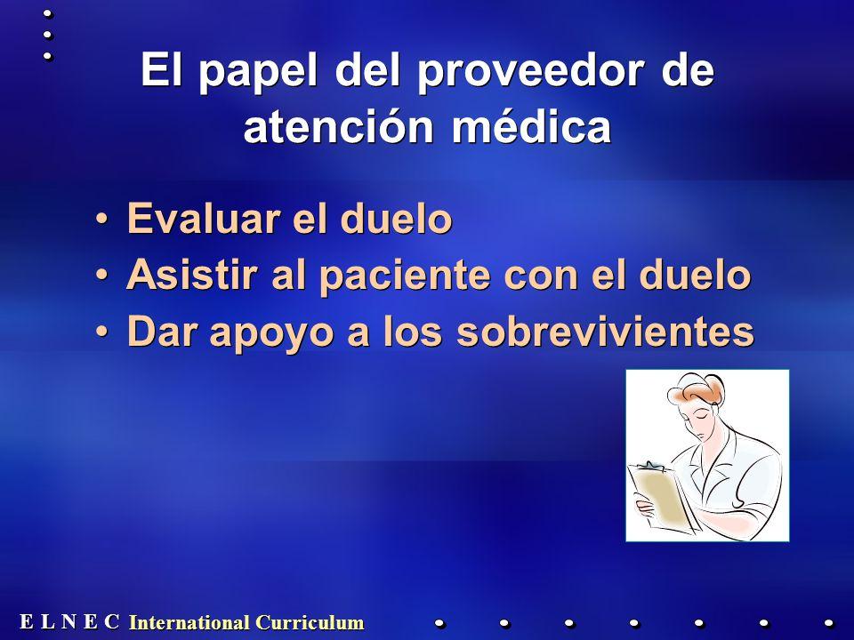 El papel del proveedor de atención médica