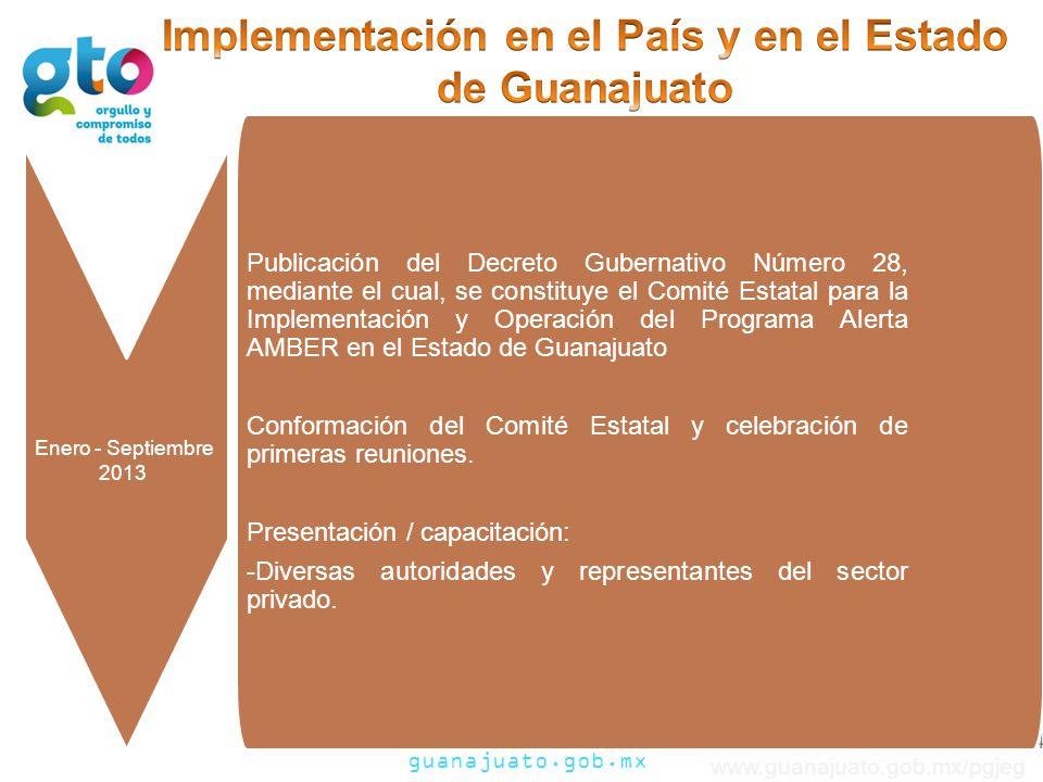Implementación en el País y en el Estado de Guanajuato