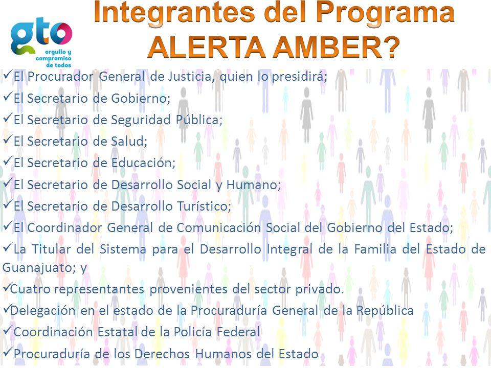 Integrantes del Programa ALERTA AMBER