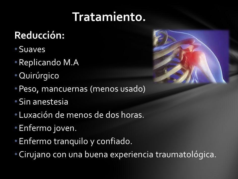 Tratamiento. Reducción: Suaves Replicando M.A Quirúrgico
