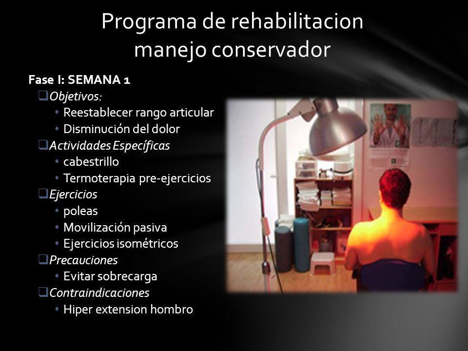 Programa de rehabilitacion manejo conservador