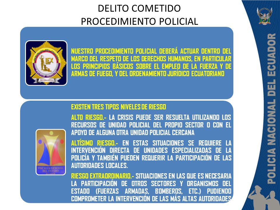DELITO COMETIDO PROCEDIMIENTO POLICIAL