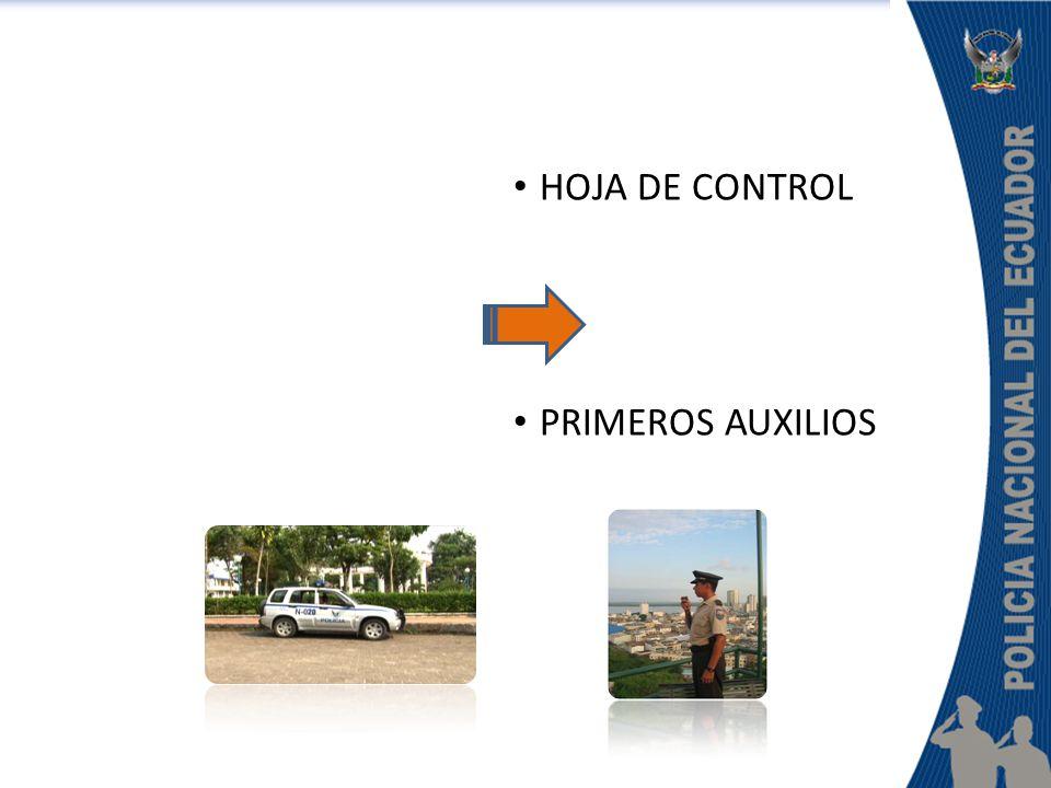 HOJA DE CONTROL PRIMEROS AUXILIOS