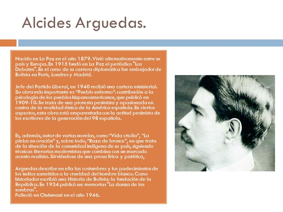 Alcides Arguedas.