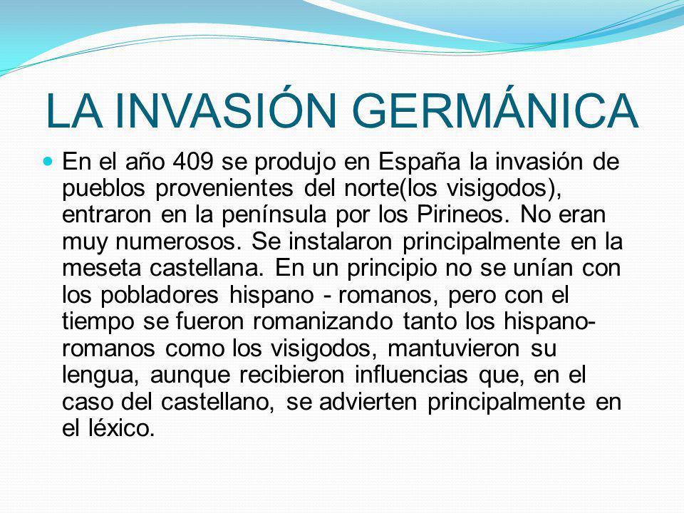 LA INVASIÓN GERMÁNICA