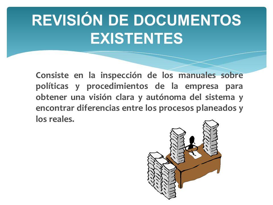 REVISIÓN DE DOCUMENTOS EXISTENTES