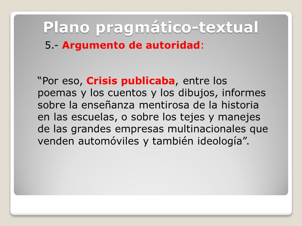 Plano pragmático-textual