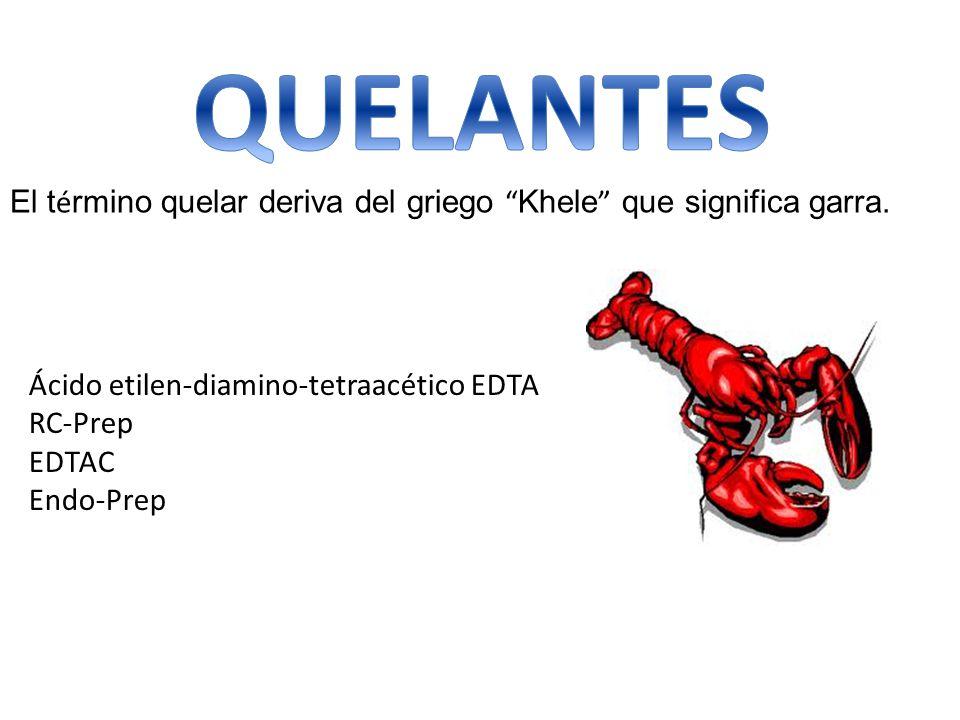QUELANTES El término quelar deriva del griego Khele que significa garra. Ácido etilen-diamino-tetraacético EDTA.