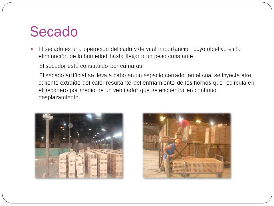 Secado El secado es una operación delicada y de vital importancia , cuyo objetivo es la eliminación de la humedad hasta llegar a un peso constante.
