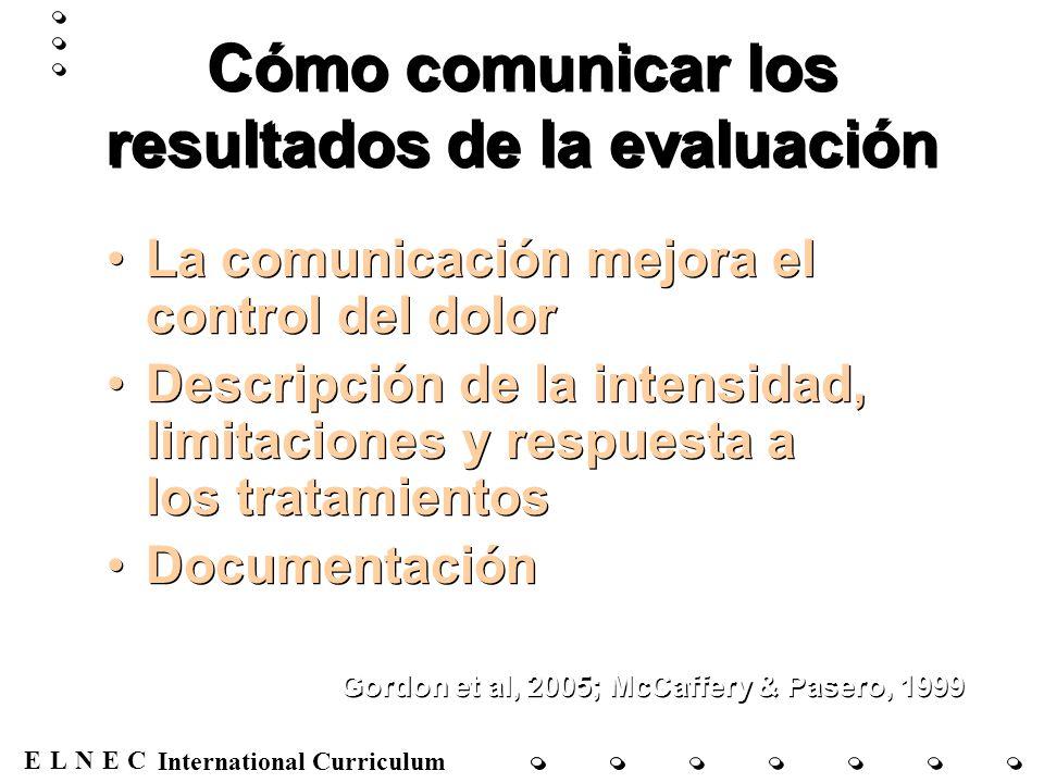 Cómo comunicar los resultados de la evaluación