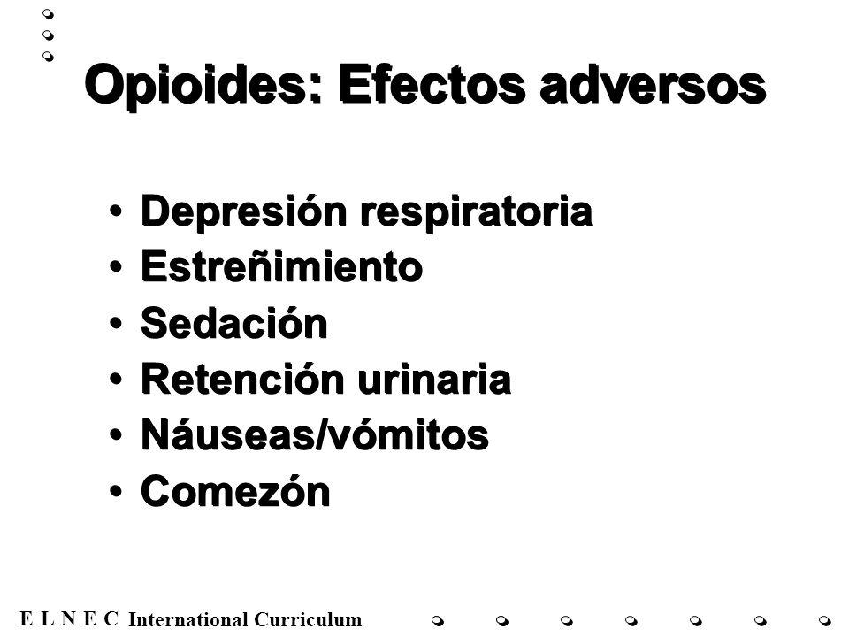 Opioides: Efectos adversos