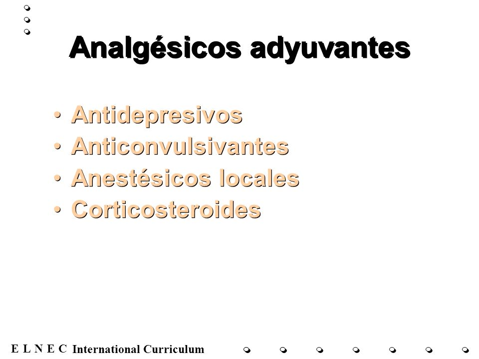 Analgésicos adyuvantes