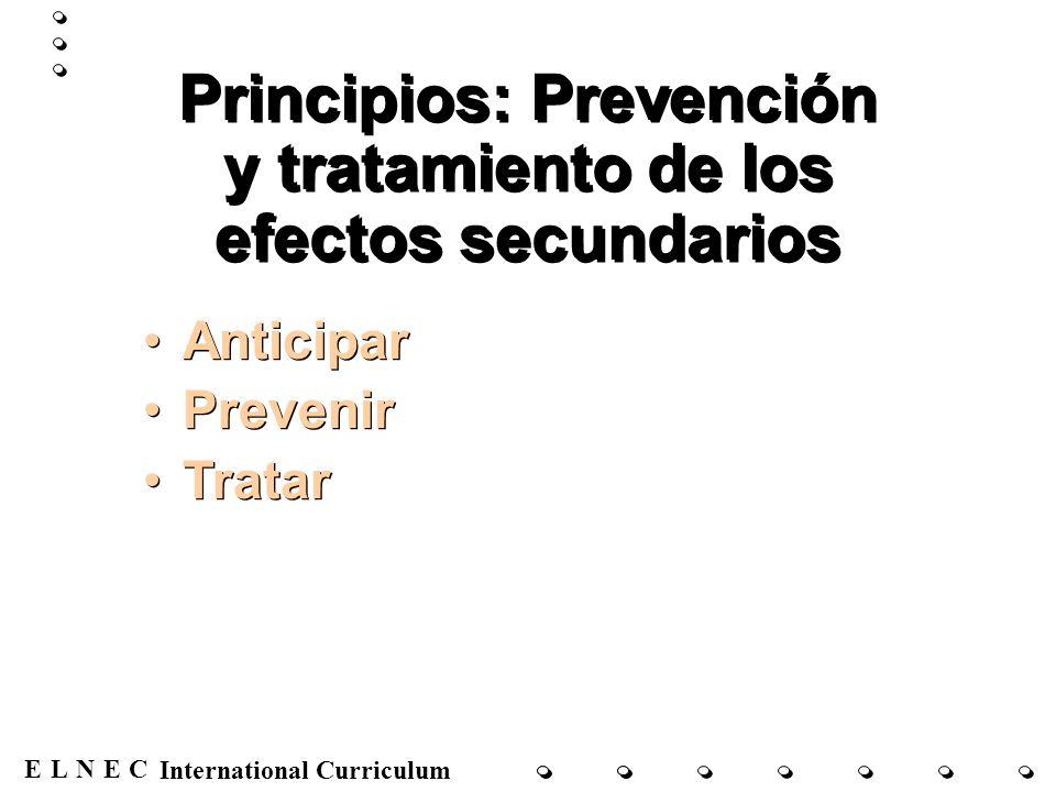 Principios: Prevención y tratamiento de los efectos secundarios