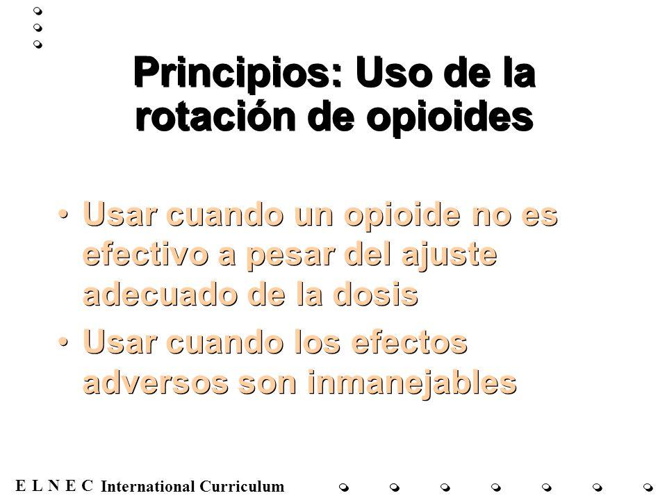 Principios: Uso de la rotación de opioides