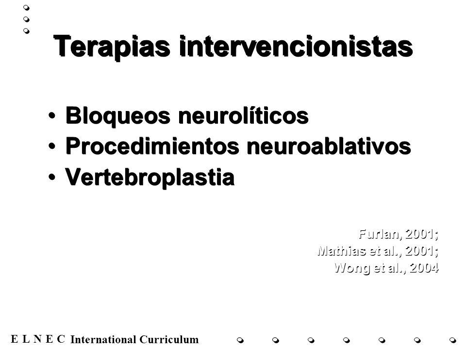 Terapias intervencionistas