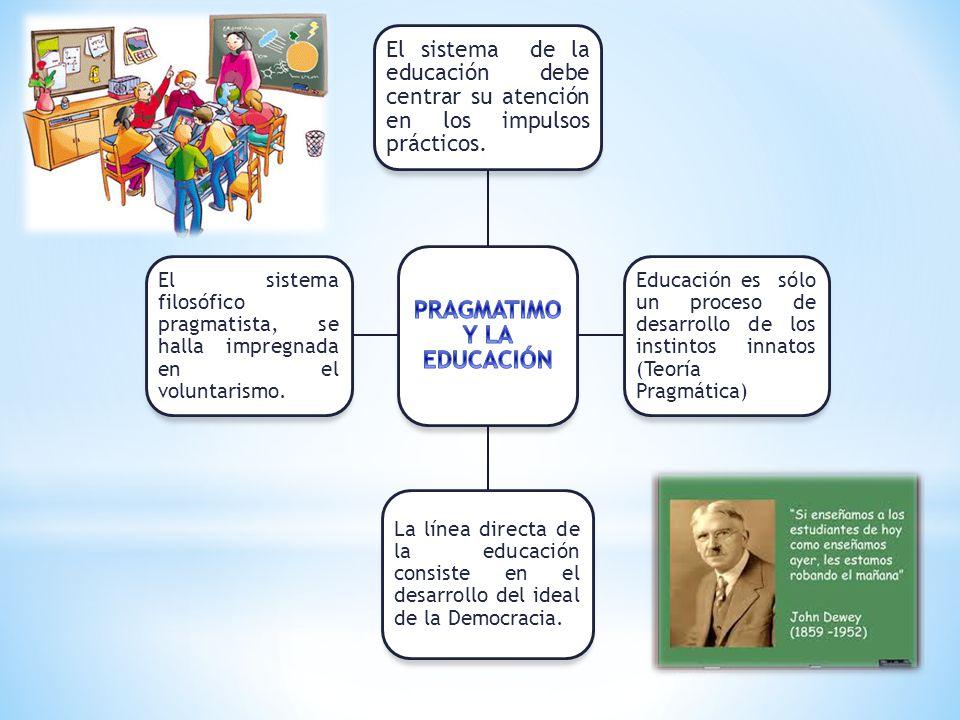 PRAGMATIMO Y LA EDUCACIÓN