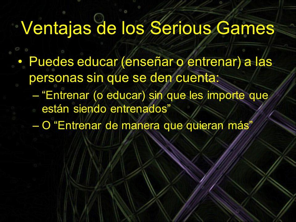 Ventajas de los Serious Games
